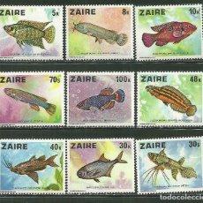 Sellos: ZAIRE 1978 IVERT 900/8 *** FAUNA MARINA - PECES DE AFRICA. Lote 199500610