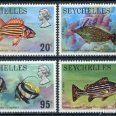 Sellos: SEYCHELLES 1974 IVERT 307/10 * FAUNA MARINA - PECES. Lote 262910700