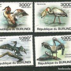 Sellos: BURUNDI 2011 SCOT 867/70 *** FAUNA - AVES. Lote 200550966