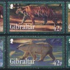 Sellos: GIBRALTAR 2011 IVERT 1431/36 *** FAUNA - ANIMALES SALVAJES EN PELIGRO DE EXTINCIÓN. Lote 289883288