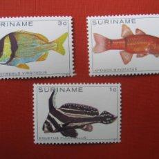 Timbres: SURINAME 1979, PECES DE SURINAM, YVERT 759/61. Lote 203878532