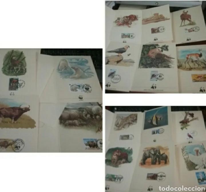 COLECCIÓN SELLOS WWF 1987/FAUNA/16 CARPETAS/VALOR: 64 MARCOS--32 EUROS. PESO 400 GRAMOS. (Sellos - Temáticas - Fauna)