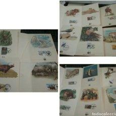 Timbres: COLECCIÓN SELLOS WWF 1987/FAUNA/16 CARPETAS/VALOR: 64 MARCOS--32 EUROS. PESO 400 GRAMOS.. Lote 204228318