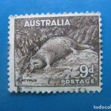 Timbres: +AUSTRALIA 1937, ORNITORRINCO, YVERT 117. Lote 204661895