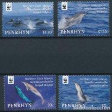 Francobolli: PENRHYN 2010 MICHEL 615/8 *** PROTECCIÓN NATURALEZA - FAUNA MARINA - DELFINES. Lote 206803421