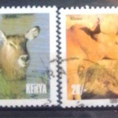 Timbres: FAUNA SALVAJE SERIE DE SELLOS USADOS DE KENIA. Lote 206976617
