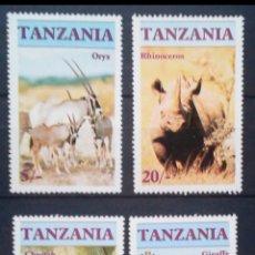 Sellos: TANZANIA FAUNA SALVAJE SERIE COMPLETA DE SELLOS NUEVOS. Lote 207270528