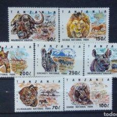 Sellos: TANZANIA FAUNA SALVAJE SERIE COMPLETA DE SELLOS NUEVOS. Lote 207284595