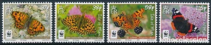 ISLA DE MAN 2011 IVERT 1696/702 *** FAUNA - MARIPOSAS (Sellos - Temáticas - Fauna)