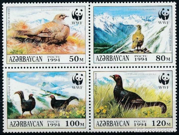 AZERBAIJAN 1994 IVERT 163/6 *** FAUNA - AVES - PROTECCIÓN DE LA NATURALEZA (Sellos - Temáticas - Fauna)