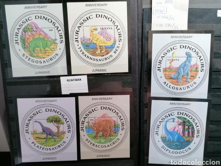 Sellos: Dinosaurios Guayana Sellos serie completa Michel 4146/4 + HB 274/9 - Foto 3 - 209786982