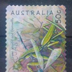 Timbres: AUSTRALIA INSECTOS AMANTIS SELLO USADO. Lote 210000566