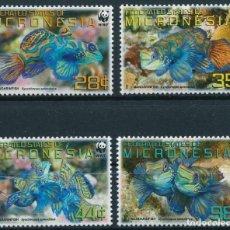 Francobolli: MICRONESIA 2009 MICHEL 2052/55 *** FAUNA MARINA - PROTECCIÓN DE LA NATURALEZA - PEZ MANDARIN. Lote 210551136