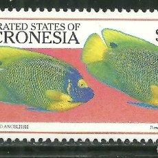 Sellos: MICRONESIA 1999 IVERT 624 *** FAUNA MARINA - PECES - PEZ ANGEL DE CARA AZUL. Lote 210753921