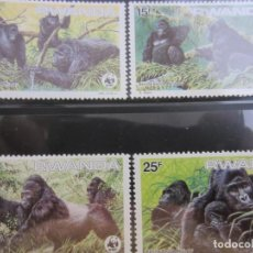 Sellos: RUANDA WWF 1985 4 V. NUEVO. Lote 211610281