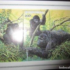 Sellos: RUANDA WWF HOJA BLOQUE NUEVO. Lote 211610400