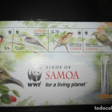 Sellos: SAMOA WWF 4 V. NUEVO. Lote 211611332