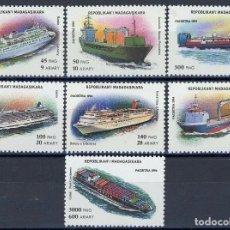 Sellos: MADAGASCAR 1994 IVERT 1405/11 *** BARCOS. Lote 211965702