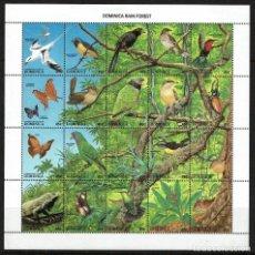 Sellos: SERIE HOJA ANIMALES DEL BOSQUE COMMOWEALTH OF DOMINICA. Lote 212520731