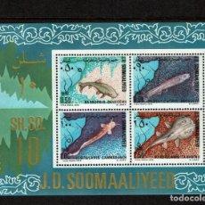 Sellos: SERIE Y HOJA PECES DE SOMALIA. NUEVO. Lote 212522992