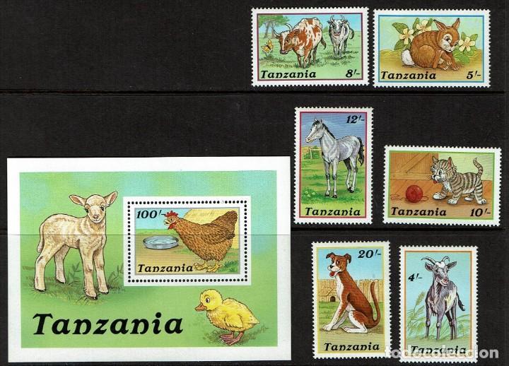 SERIE ANIMALES DE GRANJA. TANZANIA. NUEVO (Sellos - Temáticas - Fauna)