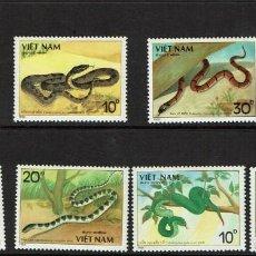 Sellos: SERIE REPTILES DE VIETNAM. NUEVO 1988. Lote 212526491
