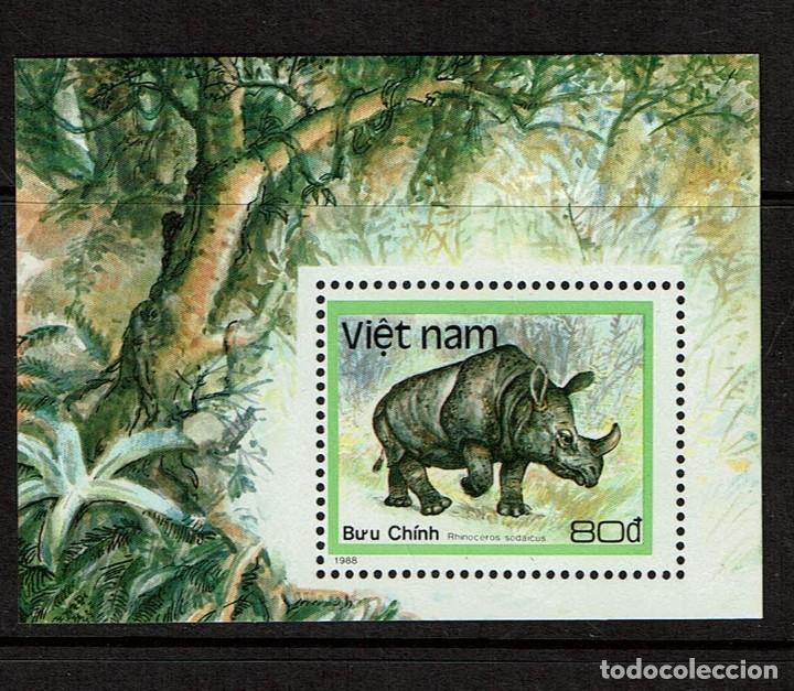 SERIE ANIMALES DE VIETNAM. NUEVO 1988 (Sellos - Temáticas - Fauna)
