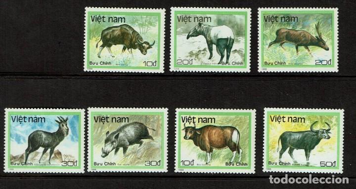 Sellos: Serie Animales de Vietnam. Nuevo 1988 - Foto 2 - 212527017