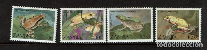 SERIE RANAS DE ZAMBIA. NUEVO (Sellos - Temáticas - Fauna)