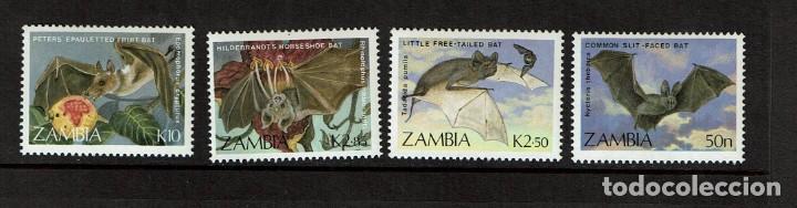 SERIE MURCIELAGOS DE ZAMBIA. NUEVO (Sellos - Temáticas - Fauna)