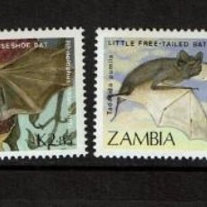Sellos: SERIE MURCIELAGOS DE ZAMBIA. NUEVO. Lote 212527895
