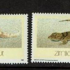 Sellos: SERIE REPTILES DE ZIMBABWE. NUEVO 1989. Lote 212528060