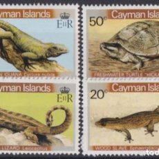 Sellos: F-EX18531 CAYMAN IS MNH ENDEMICS FAUNA TURTLE LIZARD IGUANA. Lote 214407148