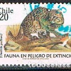 Selos: CHILE Nº 2043, FAUNA PROTEGIDA: GATO DE GEOFFROY, USADO. Lote 214501400
