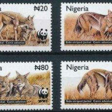 Sellos: NIGERIA 2003 IVERT 753/6 *** FAUNA - PROTECCIÓN DE LA NATURALEZA - EL CHACAL. Lote 214700058