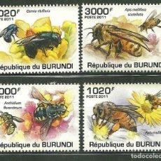 Sellos: BURUNDI 2011 *** FAUNA - LAS ABEJAS - INSECTOS. Lote 215367283