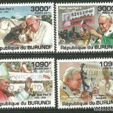 Sellos: BURUNDI 2011 *** RELIGIÓN - VIAJE DEL PAPA JUAN PABLO II. Lote 215367581