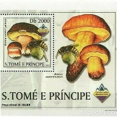 Sellos: S. TOME Y PRINCIPE 2003 HOJA BLOQUE SELLO FLORA Y FAUNA- ABEJAS - CHAMPIGNONES- BANGKOK 2003. Lote 215443661
