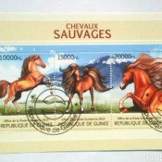 Selos: CABALLOS HOJA BLOQUE DE SELLOS USADOS DE NIGER 2013. Lote 216636671