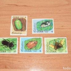 Sellos: 5 SELLOS DE INSECTOS DE CUBA. Lote 217108851