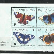 Sellos: Q500C-HOJA BLOQUE SINGAPUR SINGAPORE SWEDEN 1999 MARIPOSAS INSECTOS MNH** VENDO SELLOS DE MUCHOS. Lote 217905965
