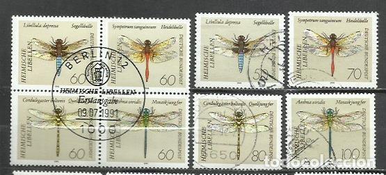 2505L-ALEMANIA SERIE COMPLETA INSECTOS LIBÉLULAS AÑO 1991 Nº 1373/80.VALOR 10,00€ (Sellos - Temáticas - Fauna)