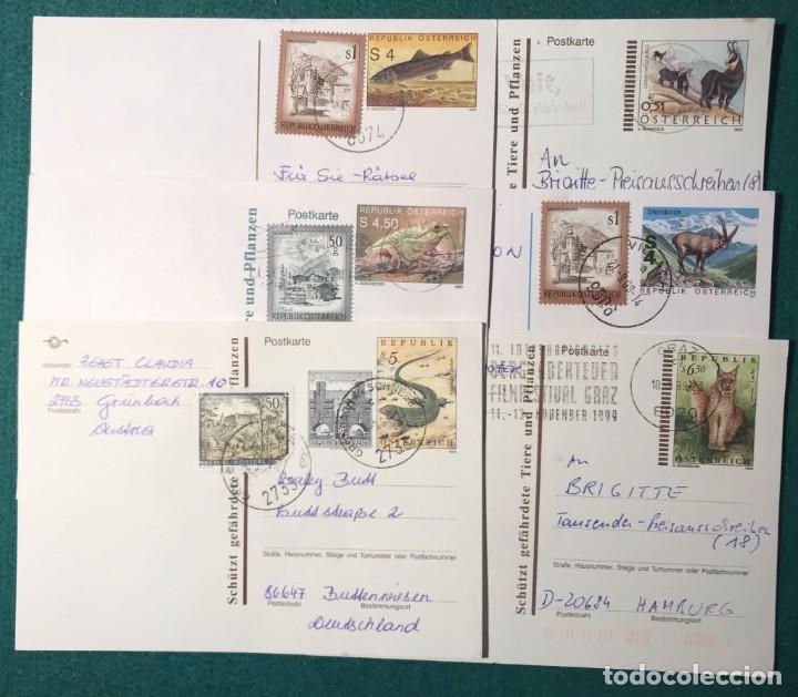 6 ENTERO POSTALES FAUNA: TRUCHA, RANA, CABRA MONTESA, LINCE. FILATELIA (Sellos - Temáticas - Fauna)