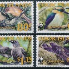 Sellos: COOK 2005 IVERT 1224/7 *** PROTECCIÓN DE LA NATURALEZA - FAUNA - AVES DE LA ISLA SUWARROW. Lote 220855862