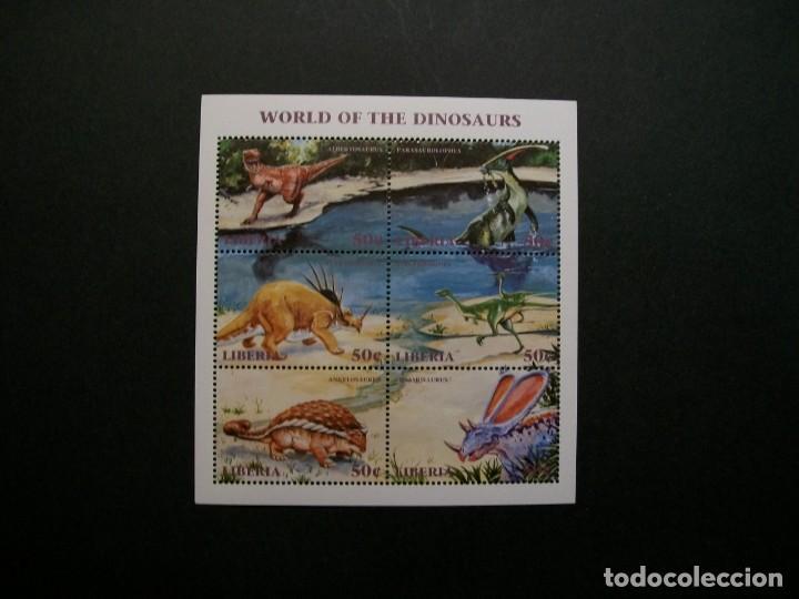 /18.10/-LIBERIA-1999-MINI PLIEGO SERIE COMPLETA EN NUEVO(**MNH)-ANIMALES PREHISTORICOS (Sellos - Temáticas - Fauna)