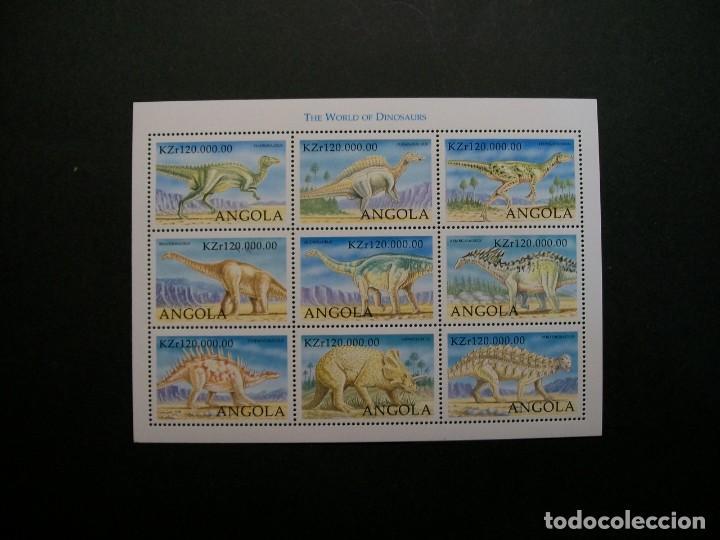 /18.10/-ANGOLA-1998-MINI PLIEGO SERIE COMPLETA EN NUEVO(**MNH)-ANIMALES PREHISTORICOS (Sellos - Temáticas - Fauna)