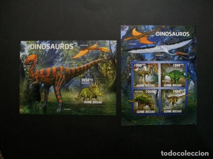 /18.10/-GUINEA BISSAU-2011-MINI PLIEGO SERIE COMPLETA+ BLOQUE EN NUEVO(**MNH)-ANIMALES PREHISTORICOS (Sellos - Temáticas - Fauna)