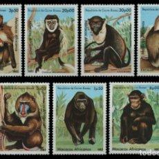 Sellos: GUINEA BISSAU 1983 IVERT 180/6 *** FAUNA - MONOS AFRICANOS. Lote 221570416
