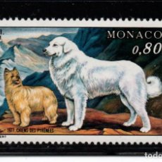 Sellos: MONACO 1093** - AÑO 1977 - FAUNA - PERROS - EXPOSICION CANINA DE MONTECARLO. Lote 221580580