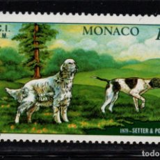Sellos: MONACO 1208** - AÑO 1979 - FAUNA - PERROS - EXPOSICIÓN CANINA INTERNACIONAL DE MONTECARLO. Lote 221581220